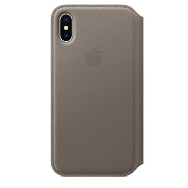 Apple iPhone X/XS Leather Folio-taupe