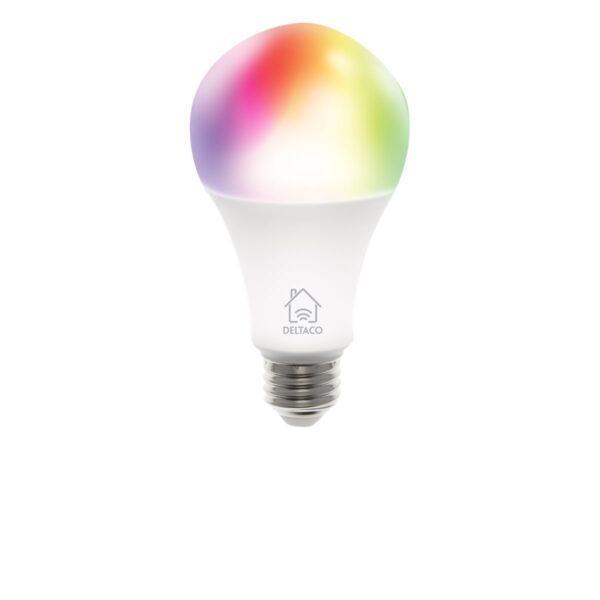 Deltaco Rgb Led-Lampa E27 Wifi 9w 16milj Färger - Vit