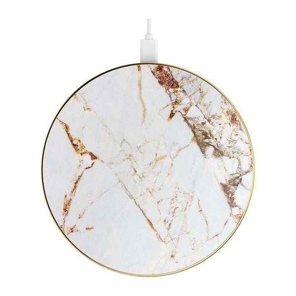 iDeal Of Sweden iDeal Fashion Qi Charger Laddningsplatta – Carrara Gold Marble