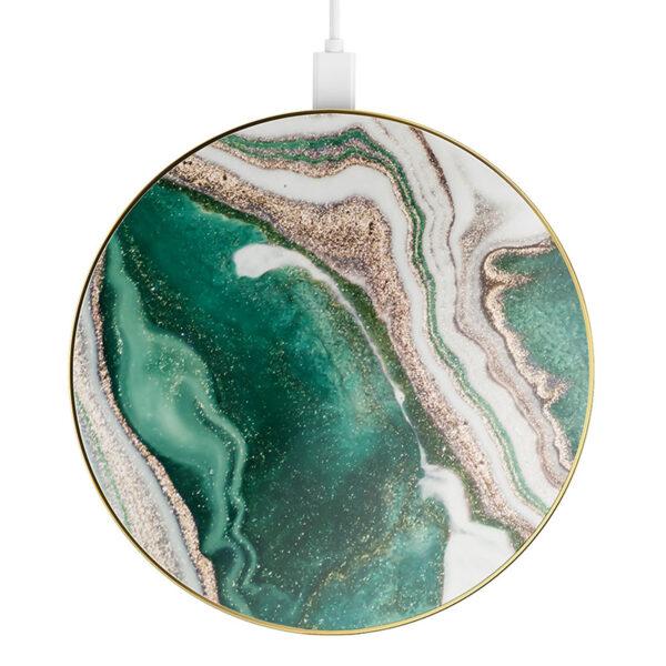 iDeal Of Sweden Fashion Qi Charger Laddningsplatta – Golden Jade Marble