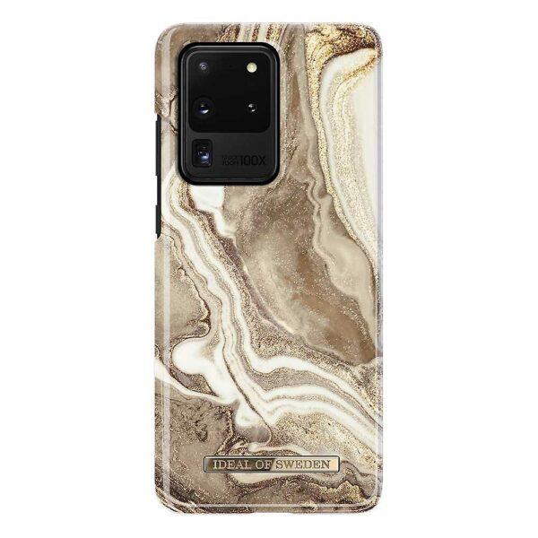 iDeal Fashion Samsung Galaxy S20 Ultra Case - Golden Sand Marble