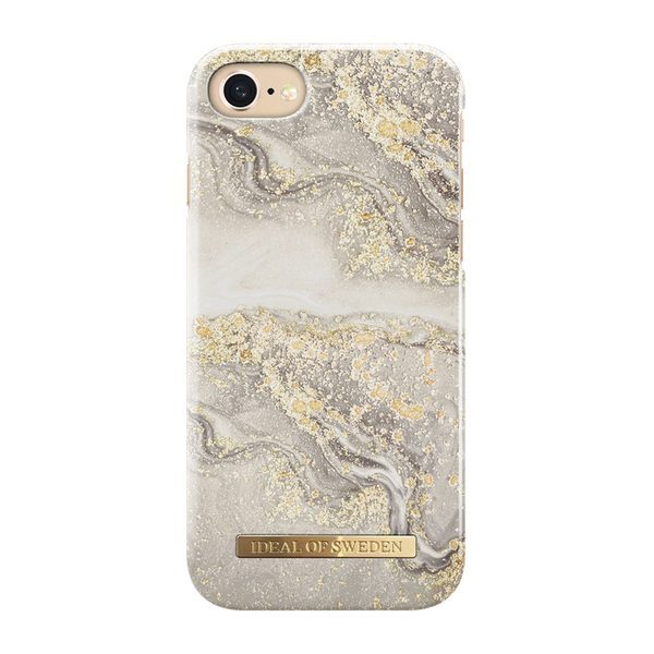 iDeal Fashion iPhone 6/6S/7/8/SE Case Sparkle Greige Marble
