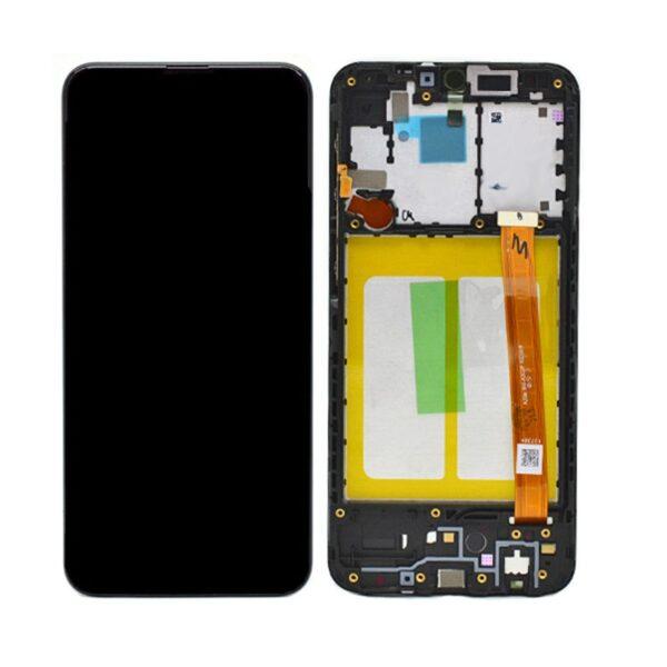 Samsung Galaxy A20E Skärm Med LCD Display - Svart